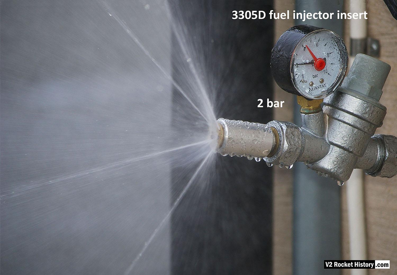 Rocket injector 3305D Water test nebular