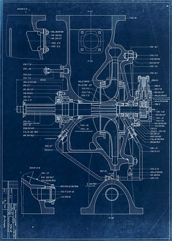 Drawing 5741 B - Fuel (B) Pump Assembly - Part Numbers