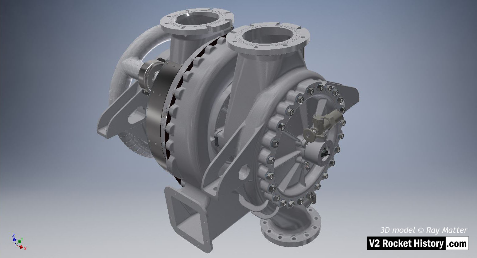 Turbopump assembly 3D-CAD