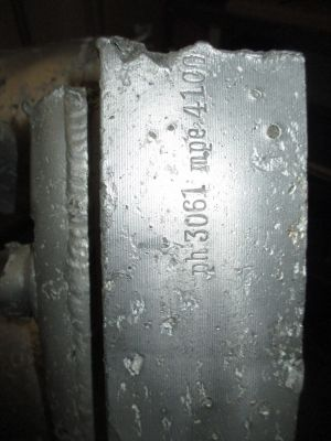 Part of prototype 25-Ton injector head