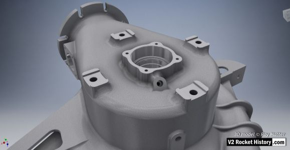 B pump casting after machining