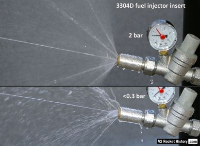 V2 rocket fuel injector comparison