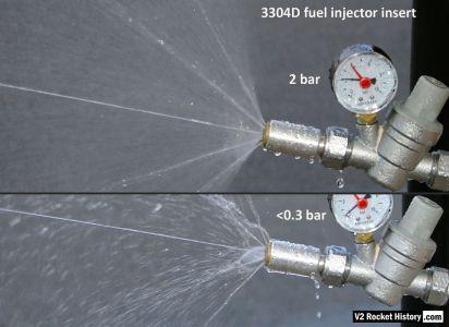 V2 rocket fuel injector comparison