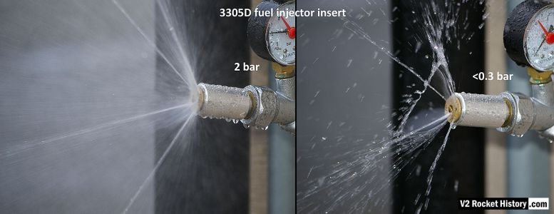 A4/V2 missile fuel injector water test