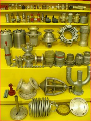 A4-V2 propellant supply parts display. ©THBC