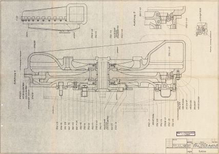 Drawing 5742 B - Steam Tubine Assembly Part Numbers