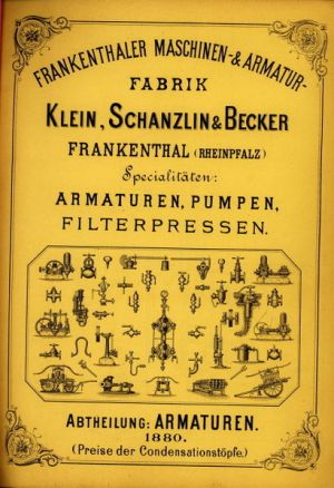 KSB  catalogue from 1880