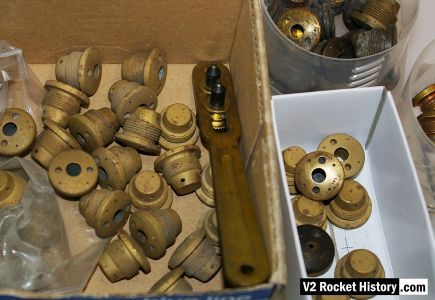 V2 rocket fuel Injector inserts stock