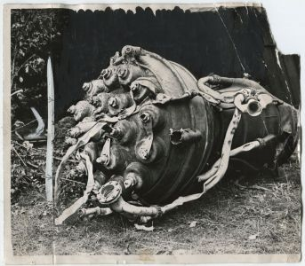 V2 missile engine wreckage