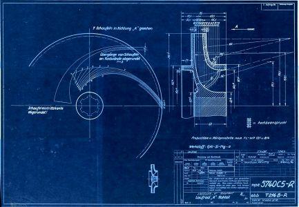 Laufrad A (Rohteil) zur A-Pumpe nach Zeichnungsnummer 5740 B Ausführung A und B [lt. Titelerfassung ...