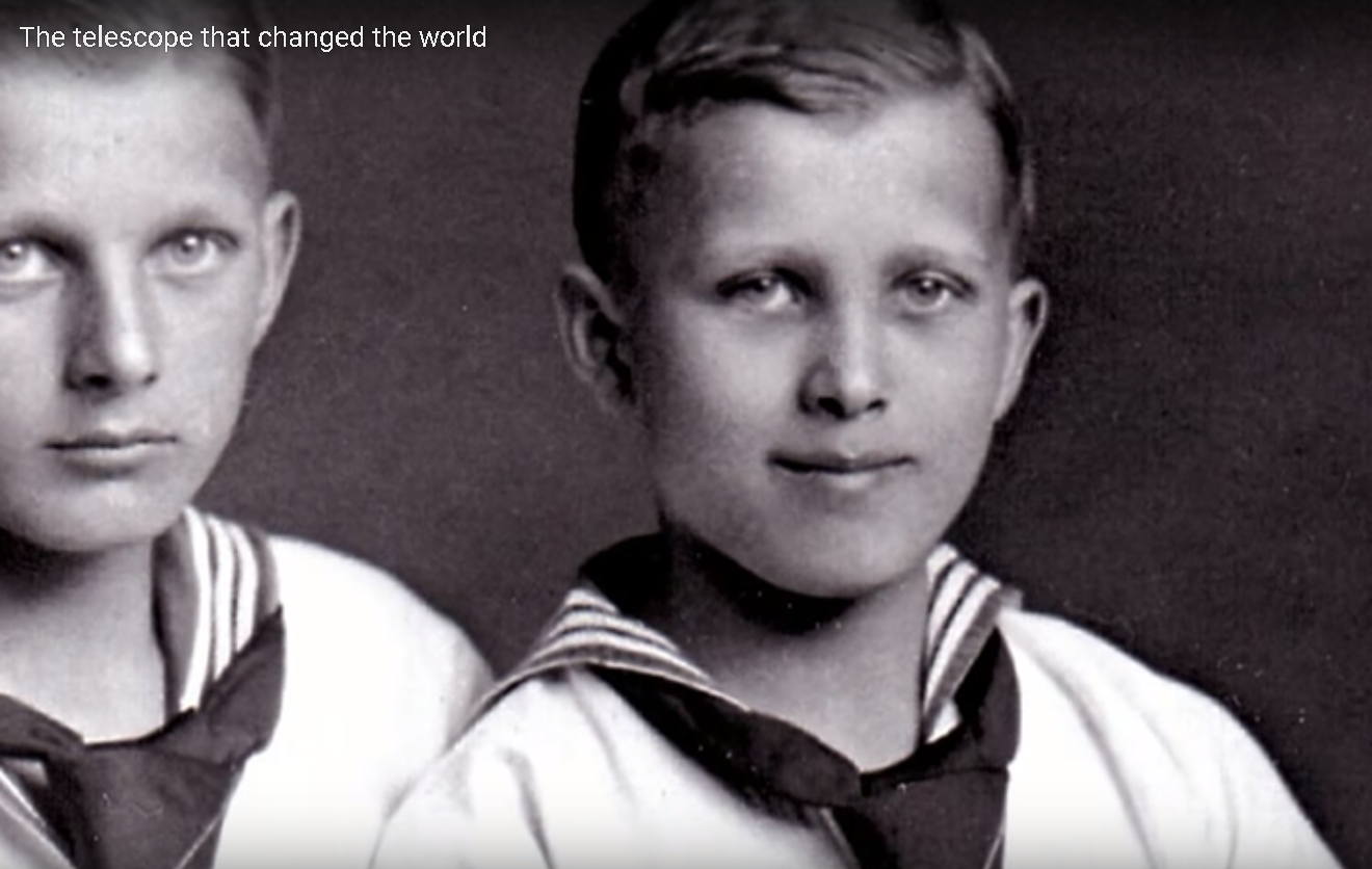Childhood photo of Nazi armourer and space age pioneer Wernher von Braun